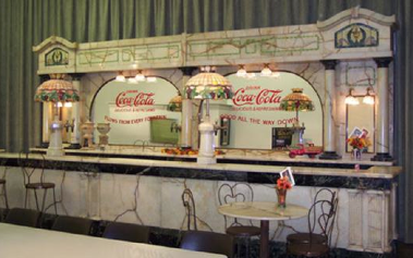 Coca-Cola Marble and Onyx Soda Counter and Bar