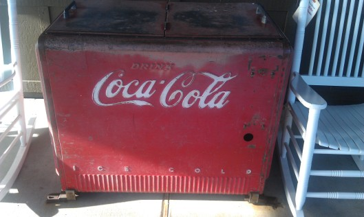 Vintage Coca-Cola Cooler in Cracker Barrel, Maryland