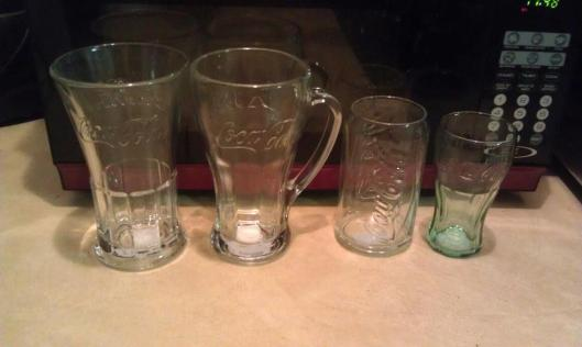 Coca-Cola glasses from The Dollar Tree